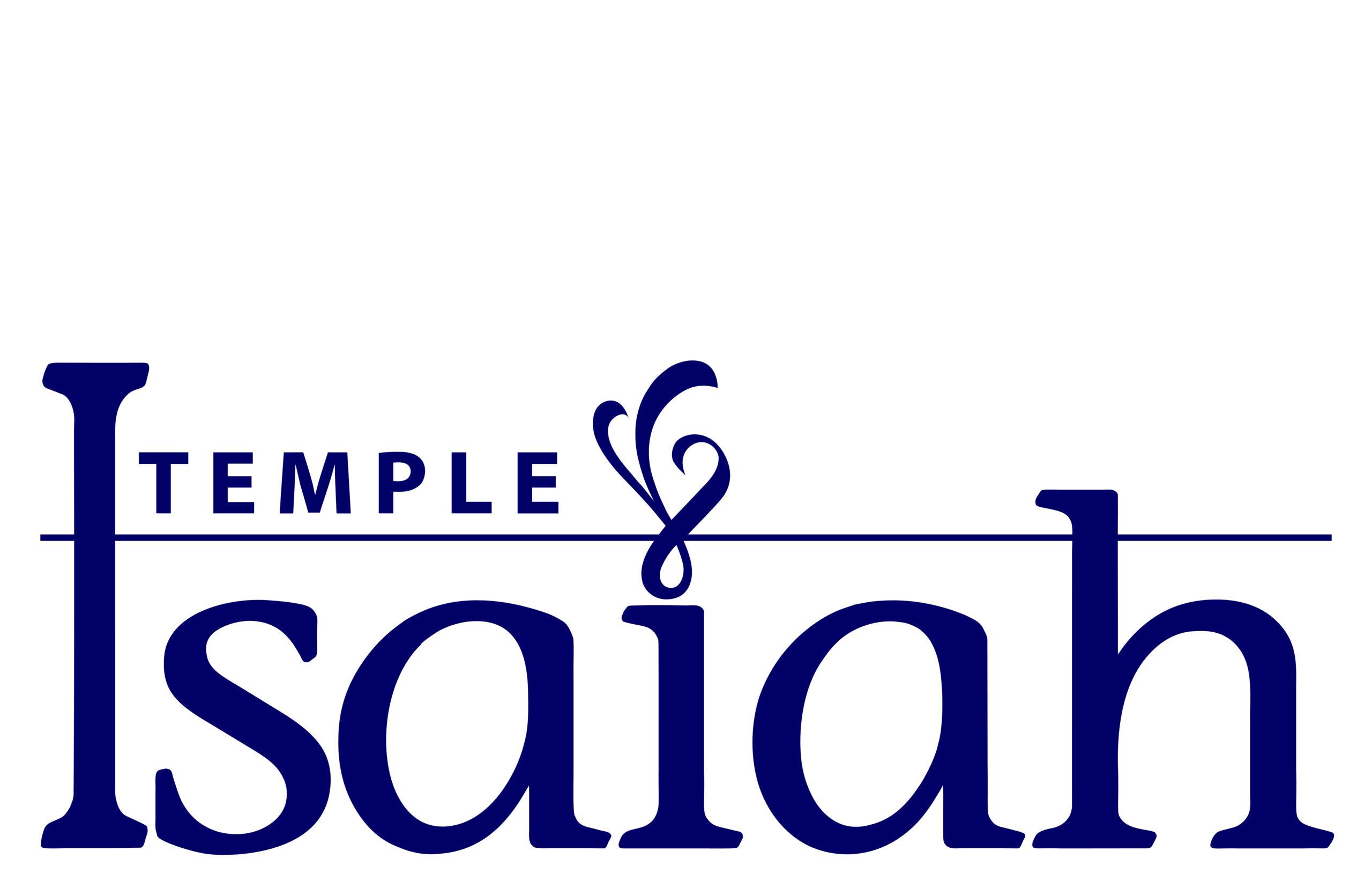 Temple Isaiah Blue Logo